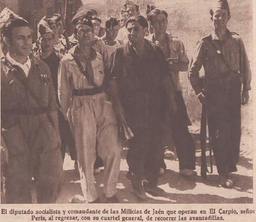 Alejandro Peris Caruana, organizador de la Milicias Voluntarias de Jaén. Frente de Córdoba