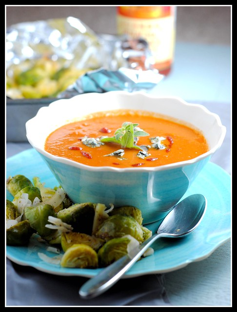 Spicy Blue Cheese and Tomato Soup