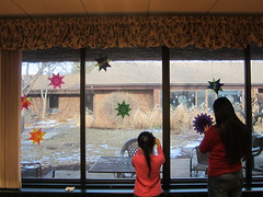 Decorating Windows at Nursing Home