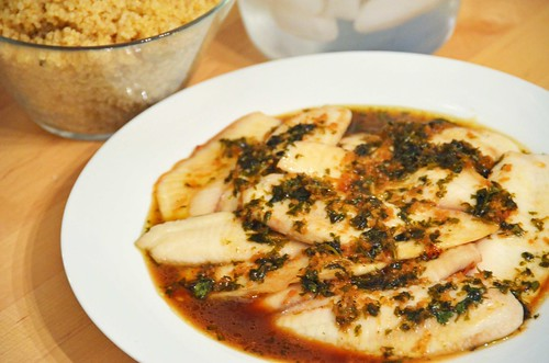 Tilapia with quinoa pilaf