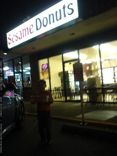 sequoia with a box containing 1 dozen doughnuts   DSC03997