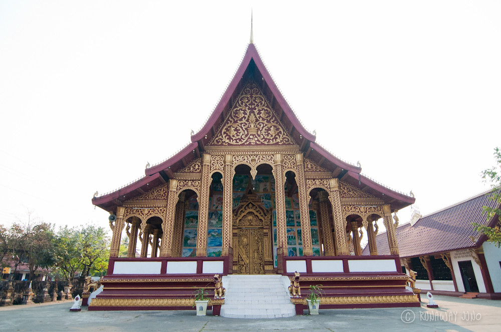 Wat Manorom in Luang Prabang Laos