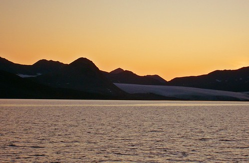 sunset beach norway bay norden svalbard arctic spitsbergen arktis