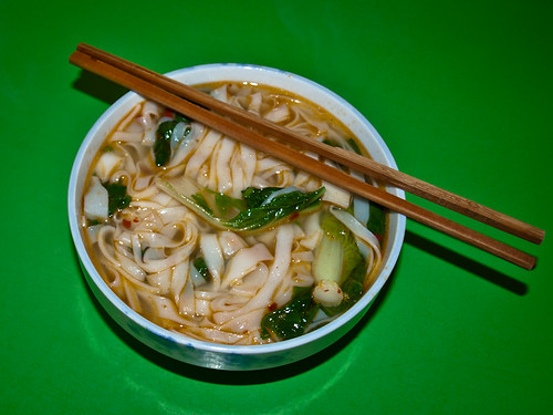 Comida china - sopa de fideos (2)