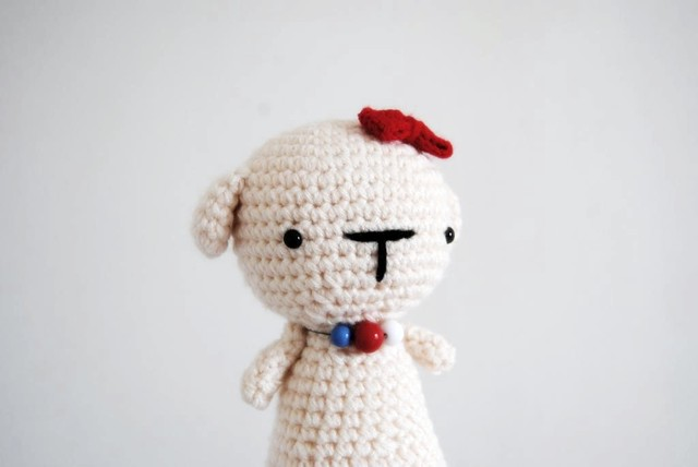 Amigurumi Big White Dog Girl