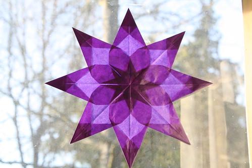 Purple Eight-Point Window Star