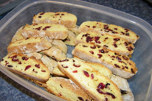 Cranberry and Orange Biscotti
