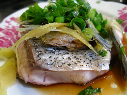 Steamed fish with salted fish chinese recipes at for Chinese steamed fish recipe