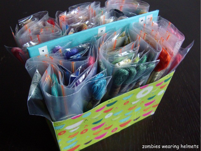 Diy embroidery floss storage organization flickr