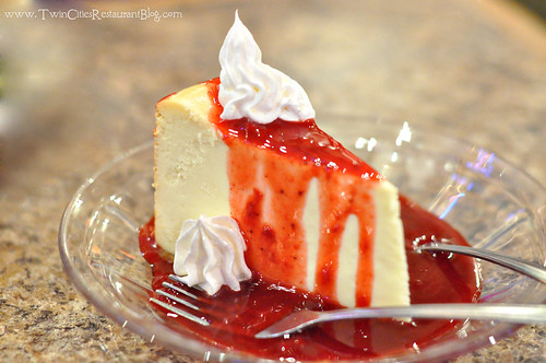 Strawberry Cheesecake at Fishtale Grill ~ New Prague, MN