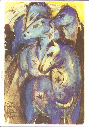 Tower of Blue Horses-Franz Marc