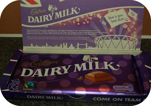Cadbury's Dairy Milk Olympic Postcard