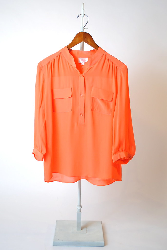Button-Front Pocket Top