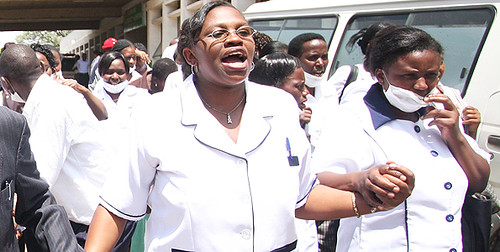 Kenyan nurses have struck for higher pay and better working conditions. The government has fired thousands in retaliation. by Pan-African News Wire File Photos