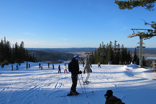 The top of the slope in Romme