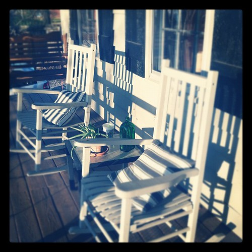 Front porch in the warm afternoon sun #picoftheday