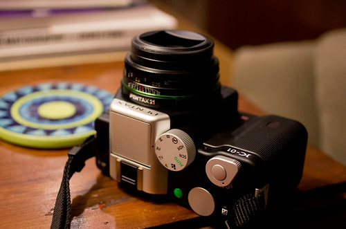 Pentax K-01, as taken by it's bigger brother.