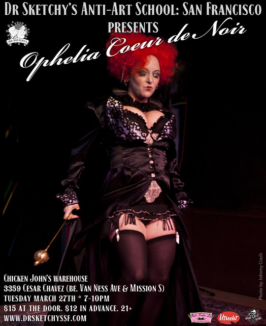 Dr Sketchy's SF presents Ophelia Coeur de Noir