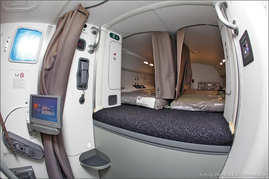 Салон самолета Boeing-787 Dreamliner