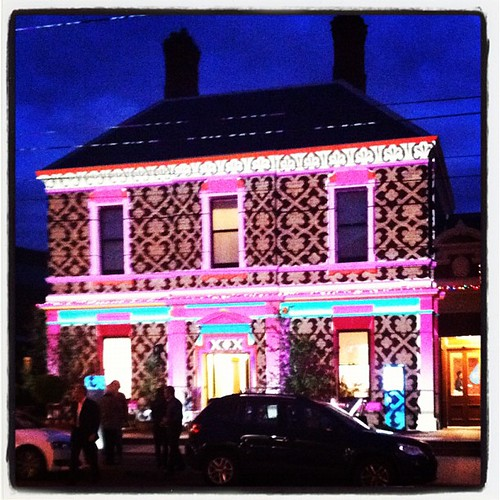 Light projection at kew court house
