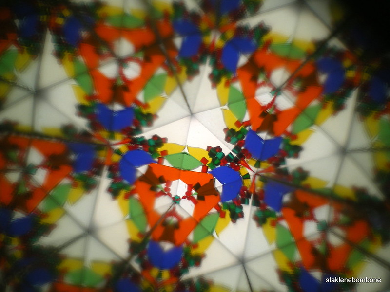 looking through a kaleidoscope