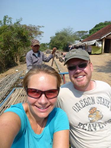 Battambang - bamboo train - 1
