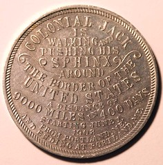 Colonial Jack token Type 2 reverse