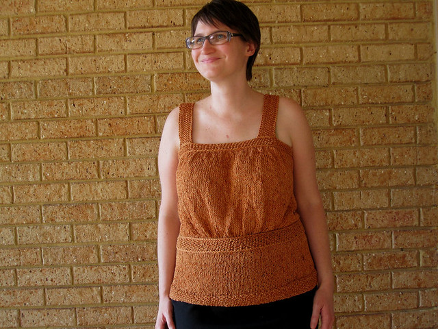 Copper knit top FO