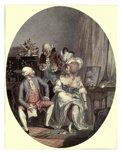 012-El vestidor frances 1789- Cbas. Ansell-Old English colour prints 1909-Charles Holme