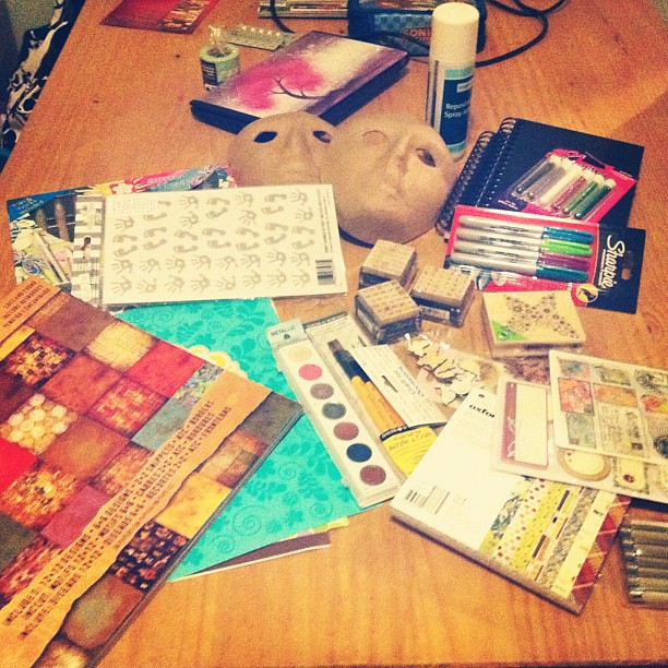 The haul from Hobbycraft... (I have to say- thank you Dad!! xxx) 45/366