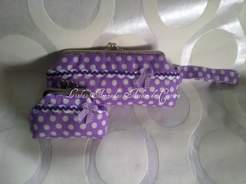 conjunto lilás ás bolinhas by ♥Linhas Arrojadas Atelier de costura♥Sonyaxana
