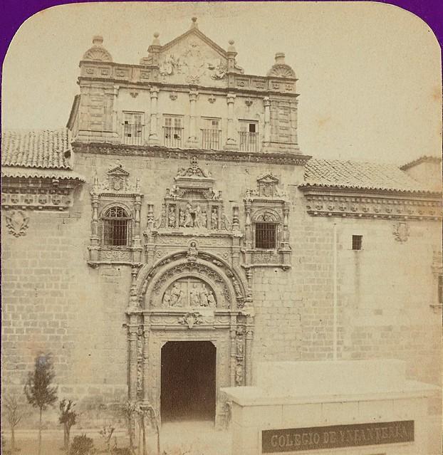 Hospital de Santa Cruz. Fotografía estereoscópica de Jean Andrieu en 1868 con número de serie 2655
