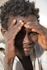 Afar guy at checkpoint