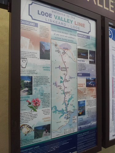 The Looe Valley Line information board at Liskeard station