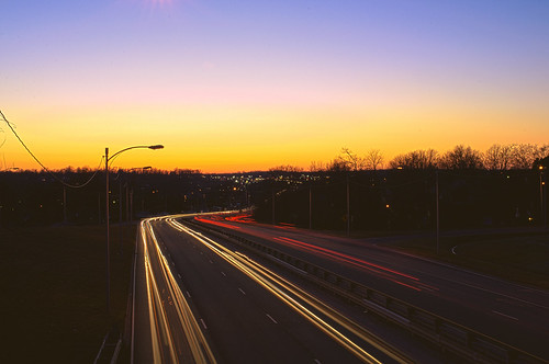 road sunset cars composite night 35mm way lights three high nikon highway dynamic streak indiana jeremy tokina express expressway range hdr evansville llyod soper d90