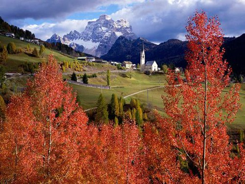 Charming landscapes romantic  Italian scenes from Around Italy alps town italian sunset
