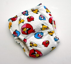 Medium Angry Birds Fitted Diaper