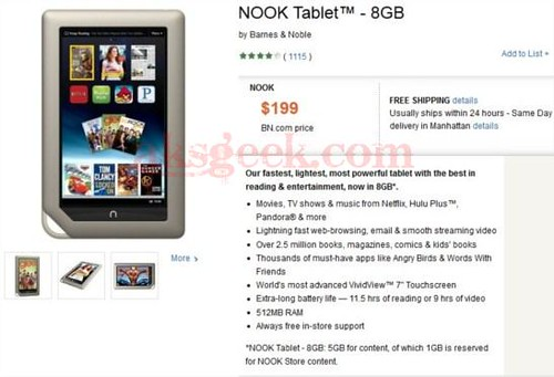 NOOK Tablet-8GB