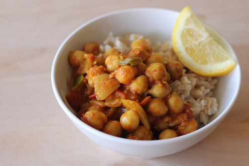 Here's a simple and flavorful chickpea curry recipe, ready in about ...