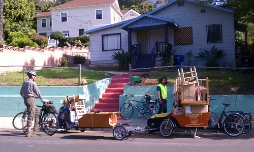 Made it! The bike move drop-off point in Echo Park