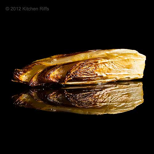 Roast Belgian Endive on Black Acrylic