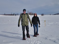 Ryan and Erica on Snowshoes