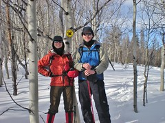 Clare & Dennis Snowshoeing at Snow Mountain Ranch
