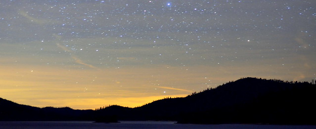stars over Whiskeytown Lake
