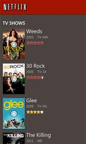 Netflix Windows Phone app v2.0