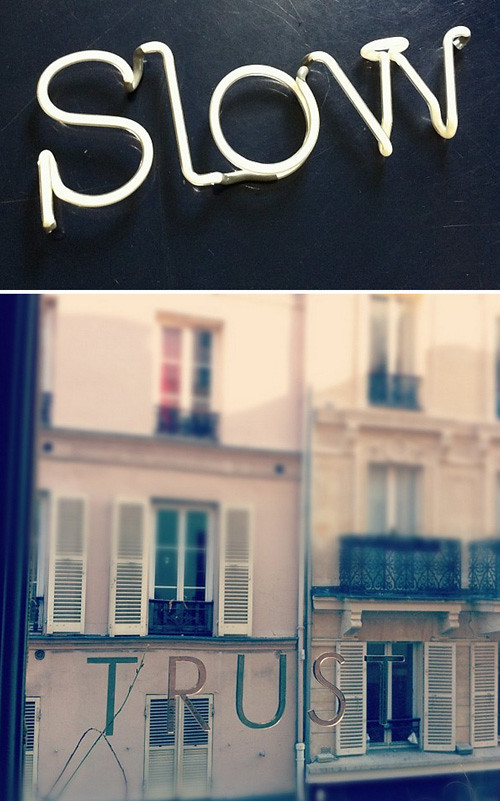 Travel Notes from Paris, Trusting + Slow Living
