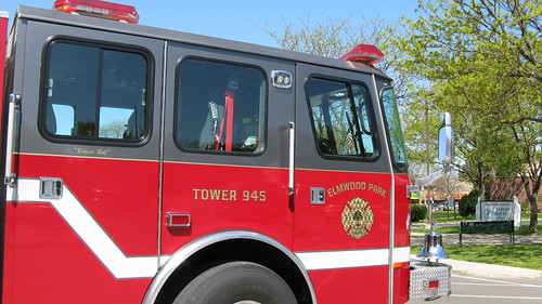 Elmwood Park Fire Department Tower Truck # 945. Elmwood Park Illinois USA. Early April 2012. by Eddie from Chicago