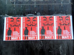 """Anonymous"" Promoting Occupy Baltimore May Day Activities. by Bill A"