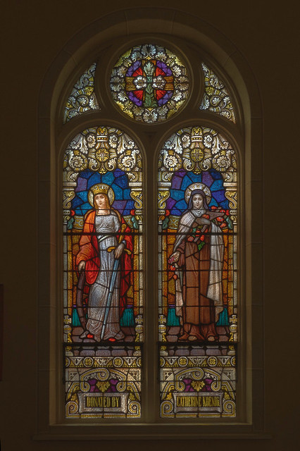 Church of the Risen Savior (Saint Joseph), in Rhineland, Missouri, USA - stained glass window with Saint Therese of Liseaux