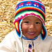Peruvian Child on lake Titicaca